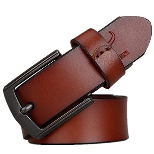 KFDZSW Cinturon Hombre Cuero Cinturones Piel Jeans Cinturón Hombre Trabajo Clásico Conveniente Para Los Pantalones Vaqueros Del Traje Para Hombres (CinturóN 05,Largo 120CM)