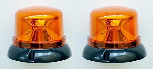 Fari Lampeggianti LED, 2 Pezzi, Effetto Rotante, Luce Color Ambra Arancione, 12 A 24 V Per Camion Con Cassone Ribaltabile, Autocarro, Trattore, Veicolo Di Emergenza