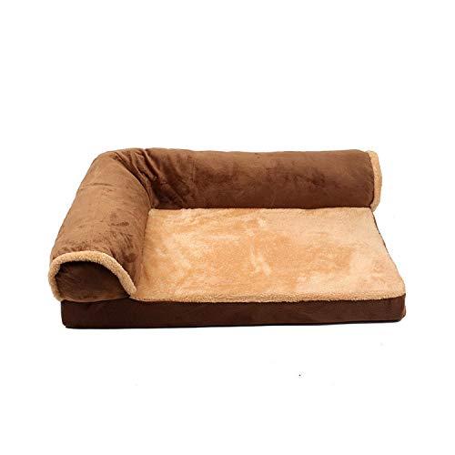 Hondenmand, afneembaar bed voor honden, huis, voor grote honden, katoen, zacht, voor honden, grote maten, bed voor huisdieren, kat, honden, kussens, sofa, Chenil Labrador-As afbeelding, bruin
