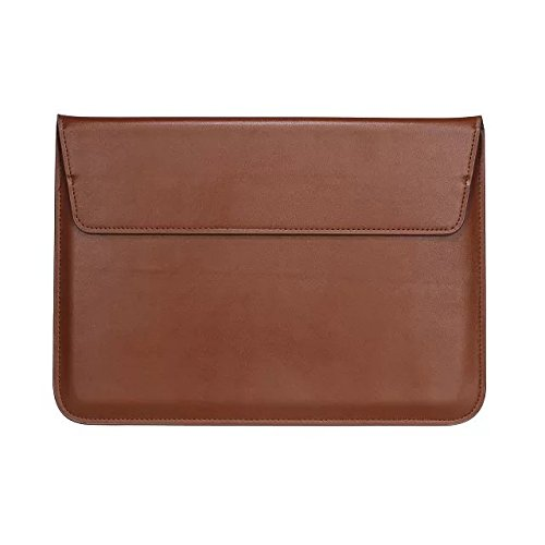 Black PU Leather Carrying Sleeve Breifcase Bag for HP Pro x2 612 G2 12 / Teclast Tbook X5 Pro 12.2 / Lenovo Miix 510 / Asus Transformer 3 Pro/Acer Aspire Switch 12 S 12 in Tablet (Brown)