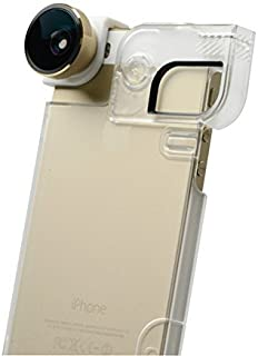 olloclip 4-In-1 Lens and Quick-Flip Case for and Pro-Photo Adapter - iPhone 5/5s - Retail Packaging - Gold Lens/Clear Case [並行輸入品]
