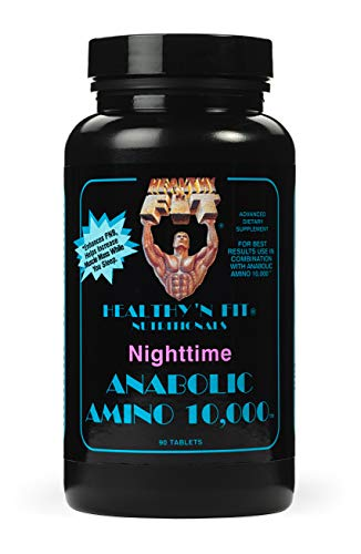 Healthy 'N Fit - Nighttime ANABOLIC Amino 10,000 180 Tablets: Complete Profile with Extended Release Formula.