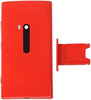 High Class and Durable Replacement Parts Compatible with Nokia Lumia 920 Back Cover + SIM Card Tray for Cell Phone (Color : Red)