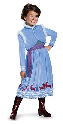 Anna Frozen Adventure Dress Deluxe Costume, Multicolor, X-Small (3T-4T)