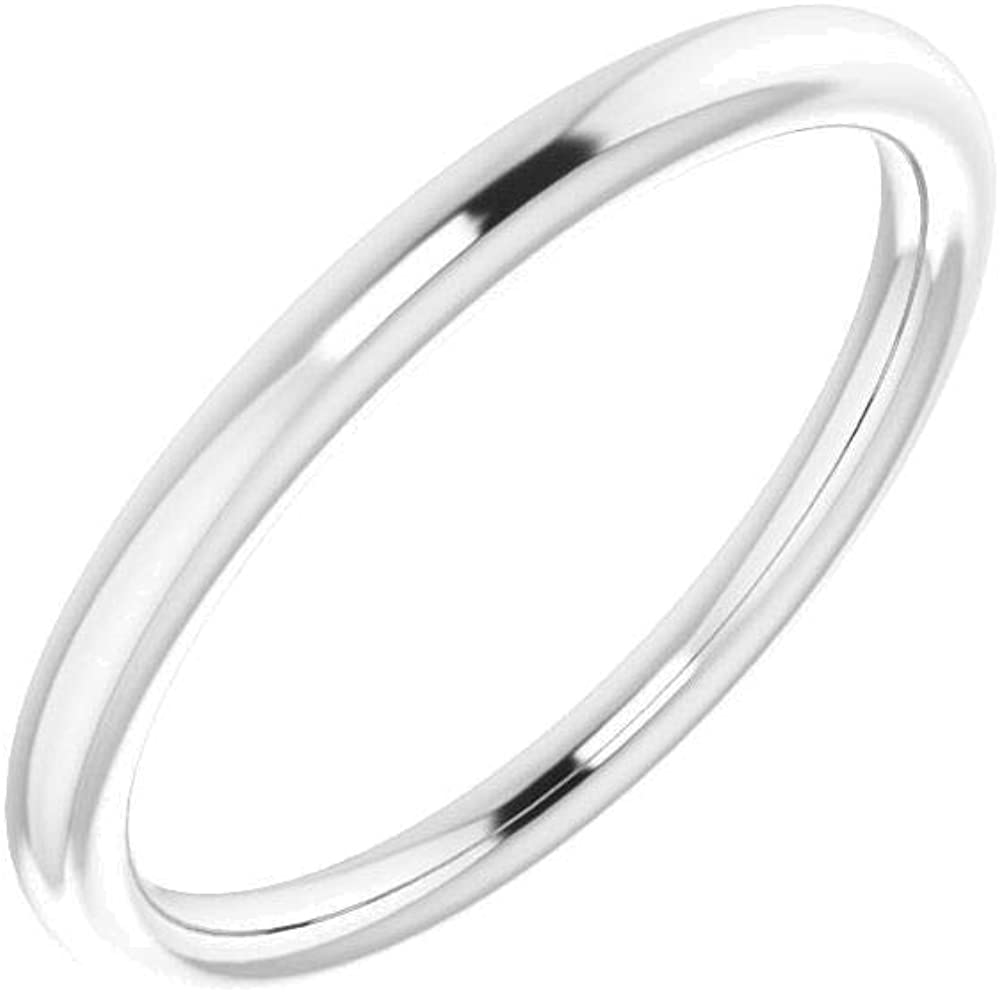 14K X1 White Band Atlanta Mall for Cheap mail order sales 5mm Ring Cushion Siz 14kt in Gold