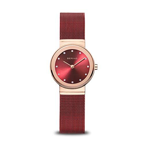 BERING Reloj Analógico para Mujer de Cuarzo con Correa en Acero Inoxidable 10126-363