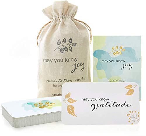 May You Know Joy : Seeds of Intention Meditation Card Set with Thought Provoking Empowering Leads. Mindfulness Cards, Inspirational Self Care Gifts for Women, Meditation Gifts