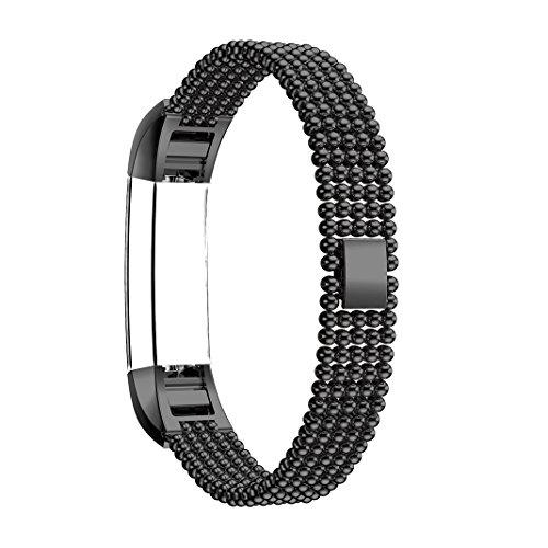 Per Fitbit Alta Band, Per Fitbit Alta HR Strap, Rosa Schleife Fitbit fitness cinque tonde design smart Watch sostituzione di sport bracciali per Fitbit alta 2016/alta Fitbit HR 2017