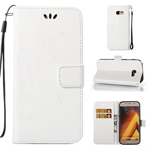 JAWSEU Compatible avec Samsung Galaxy S8 Coque Portefeuille PU /Étui Cuir /à Rabat Magn/étique R/étro 3D /él/égant Motif Ultra Mince Stand Leather PU Flip Wallet Case
