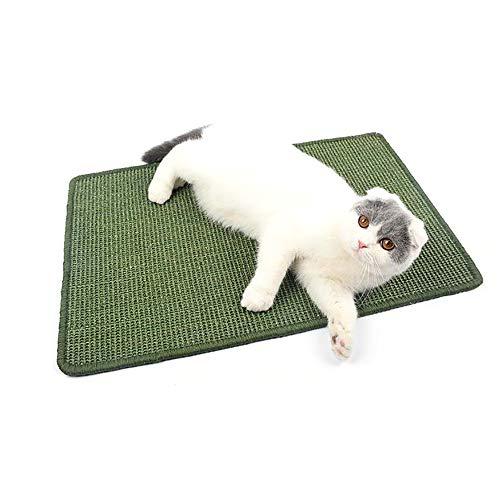 Urijk Sisal Kratzmatte Haustier Katze Sisalteppich Kratzbrett Matte Sisal Katzenteppich Kratzteppich geeignet für Fußbodenheizung Wand Boden, Farbe Zufällig