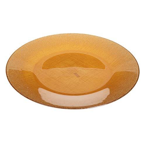 Bajoplato dorado de cristal luxury,de Ø 33 cm - LOLAhome