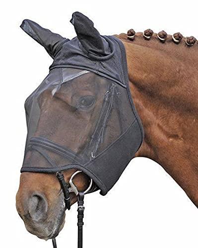 HKM Fliegenschutzmaske mit Ohren, Insektenschutz, schwarz, Warmblut