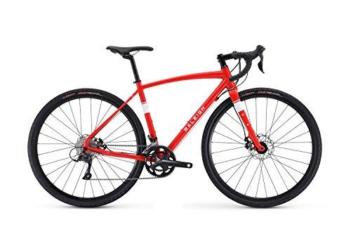Raleigh Bikes Amelia 2 Womens Adventure Road Bike 52cm Frame, Red, 52cm/Small