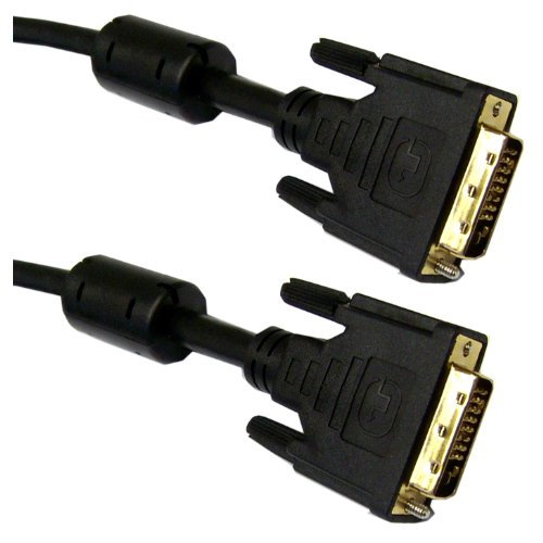 DVI-D Dual Link Cable with Ferrite, Black, DVI-D Male, 10 meter (33 foot)