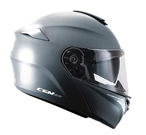 CGM Herren 508A-ALV-78 Grauer (M) umwandelbarer Helm (BERLINO PINLOCK) EXTRA Fume, Medium