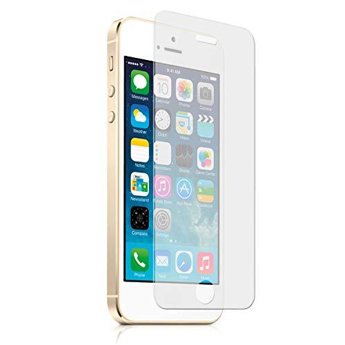 Movilrey Protector para Apple iPhone 5S I5GS Cristal Templado de Pantalla Vidrio 9H para movil
