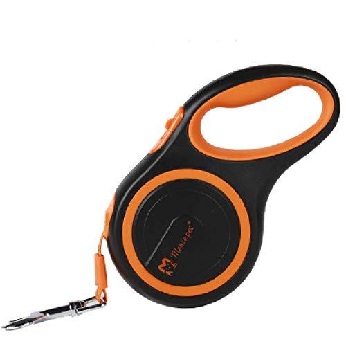 ZGYQGOO Hundeleine Einziehbare Hundeleine, ausziehbare automatische Hochleistungs-Hundeleine für großes, mittleres und kleines Hundetraining, Laufen und Joggen, Orange-8m