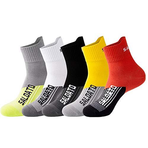 JEPOZRA Calcetines deportivos transpirable Calcetines para baloncesto Ideales para deportes como running, iclismo trekking yoga Runing para , Térmicos, Transpirables, Acolchados y Anti-rozaduras。