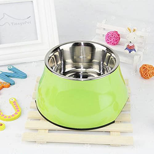 LLK Pet Bowl Stainless Steel Non-slip Cat Food Bowl Dog Bowl High-foot Cat Feeder Medium and Small Dog Feeder Drinking Bowls