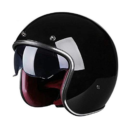 Cascos, al aire libre cascos de bicicleta, cascos de motocicleta,Casco de Motocicleta Casco de Equitación Hombres y Mujeres Retro Casco de Personalidad Eléctrica Casco XXL