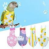 Balacoo 2 Pcs Oiseau Couche Réutilisable Lavable Perroquet Couches Vêtements Combinaison De Vol Robe pour Perruche Calopsitte Ara Africain (S Style Aléatoire)