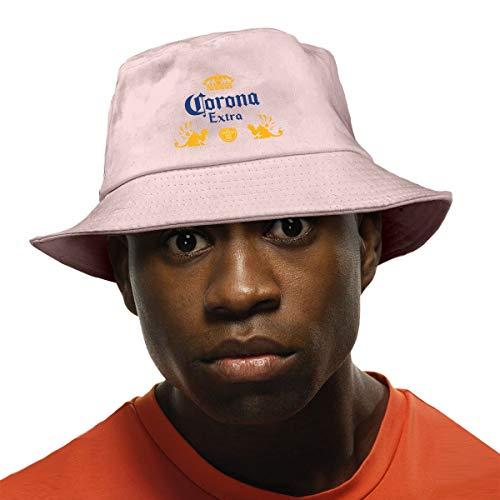 Corona Extra Bier Fischerhut Safari Cap Bucket Hut für Wandern Angeln Strand Schwarz Gr. Einheitsgröße, rose