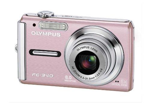 Olympus FE-340 Digitalkamera (8 Megapixel, 5-Fach Opt. Zoom, 6,9 cm (2,7 Zoll) Bildschirm) pink