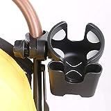 QueenHome Soporte universal para bebidas, 2 en 1, soporte para botellas, rotación de 360 grados, para cochecito de bebé, silla de ruedas