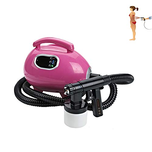 YESAN Spray Tan Machine - at Home Airbrush Tanning System, Natural Sunless Airbrush, Body and Face for Bronzing,Pink