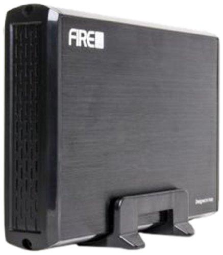 """Firecube Case Esterno In Alluminio per Hard Disk Sata da 3,5"""" con Interfaccia USB 3.0, Nero"""