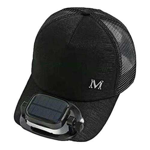 GG- fan cap con Ventilatore Solare Cappello da Sole Estate Berretto da Baseball da Golf Uomini e Donne Mesh Traspirante Doppia Carica Misura Regolabile all'aperto Pesca, 4 Colori