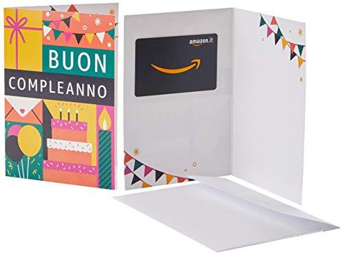 Buono Regalo Amazon.it - Biglietto d'auguri con icone verdi e gialle