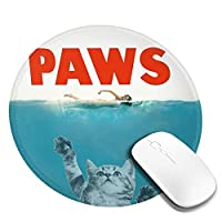 Mouse pad Paws 猫の爪 円型マウスパッド パソコン テーブルクロス 周辺機器 かわいい柄 滑り止め 防水 おしゃれ オフィス用 ゲーム用