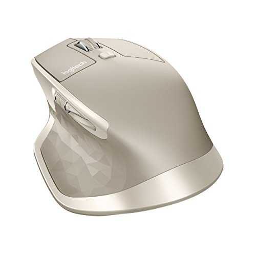 Logitech MX Master Wireless Mouse, Bluetooth or 2.4 GHz with USB Unifying Mini-Receiver, 1000 DPI Any Surface Laser Tracking, 5-Buttons, PC / Mac / Laptop - Stone Grey White