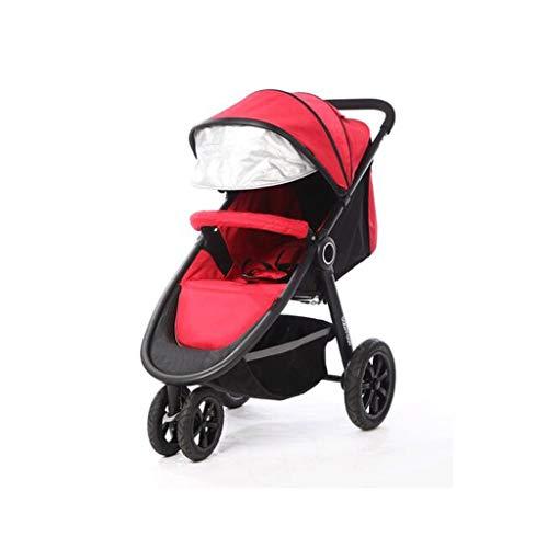 Gute Qualität Kinderwagen Buggys Kinderwagen, einstellbare Markise Sicherheitsgurt Pedal Aufbewahrungstasche Bremse Stoßdämpfung Design dreirädrigen Trolley Baby Standardkinderwagen