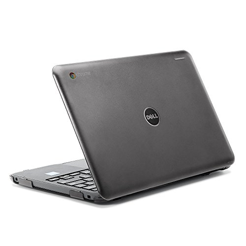 """iPearl mCover Hard Shell Case for 2017 11.6"""" Dell Chromebook 11 3180 Series Laptop (NOT Compatible with 210-ACDU / 3120/3189 Series) (Black)"""