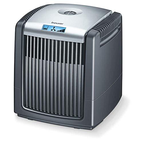 Beurer LW 230 Luftwäscher, Luftbefeuchter und Luftreiniger in einem Gerät, für Räume bis ca. 40 m², wäscht Hausstaub, Pollen, Tierhaare und Gerüche aus der Luft, schwarz