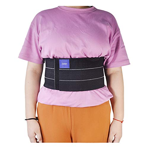 Umbilical Hernia Belt for Men Women Hernia Support Abdominal Binder Post Surgery Belly Stomach Binders Navel Ventral Hernias Belt Belly Button Band Tummy with Compression Pad Fits 43'-62' Waistline
