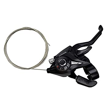 Bike Levers Shifter ST-EF51-8R 8 Speed Right Brake & Shift Lever with Gear Indicator and V Brake Cable for Mountain Road Bicycle MTB BMX