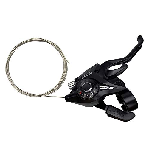 Bike Levers Shifter, ST-EF51-8R 8 Speed Right Brake & Shift Lever with Gear Indicator and V Brake Cable for Mountain Road Bicycle, MTB, BMX