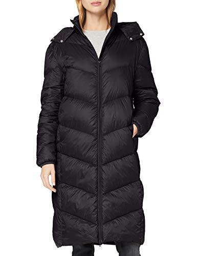 SPARKZ COPENHAGEN AVA Puff Long Coat Chamarra de Plumas, Negro, S para Mujer