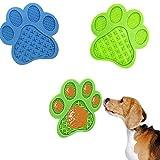 Almohadilla Lamer Perro, Almohadilla Para Lamer Para el baño de Mascotas, Alfombrilla Para Perros se Puede Fijar a la Pared, Almohadilla Para Lamer Puede Distraer a las Mascotas (Azul, verde)