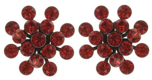 KONPLOTT Magic Fireball Classic Ohrstecker für Damen   Exklusive Designer-Ohrringe mit 32 Swarovski Steinen   Glamouröser Ohrschmuck passend zu jedem Anlass   Handgefertigter Damen-Schmuck   Orange