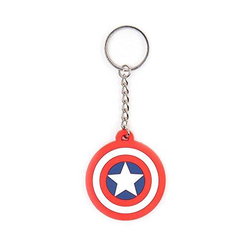 Preisvergleich Produktbild Marvel Comics - Captain America Schild Logo - Rubberen Sleutelhanger
