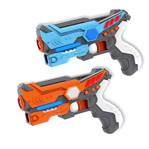 WenToyce 2 Pack Infrared Laser Tag Gun Set, Infrared Blaster Set for Kids Adults, Multiplayer Mode, Infrared 0.9mw, Family Part Entertainment