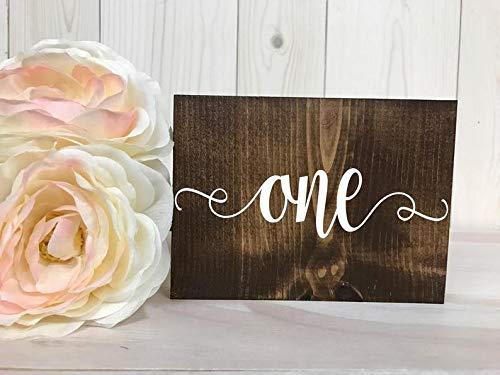 43LenaJon números de mesa de doble cara cartel de boda rústico, decoración de madera para jardín, etiqueta de bienvenida personalizada de casa rural