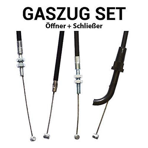 Gaszug Set Öffner + Schließer für Kawasaki GPZ 900 R Ninja (Anti Dive)