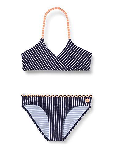 Schiesser Bustier-Bikini Set Costume da Bagno, Blu (Dunk E L Blau/Gem. 835), 128 Bambina