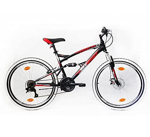 Bikesport Parallax 26' Bicicletta Biammortizzata Doppia Sospensione (Nero Blu)