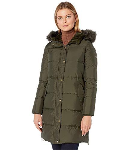 LAUREN RALPH LAUREN Horizontal Heavy Down w/Flap Pockets Puffer Coat Litchfield Loden MD Michigan